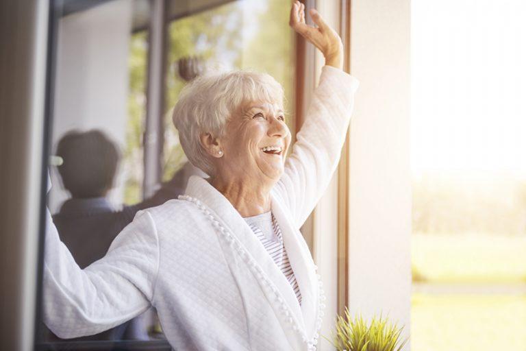 senior with copd enjoying fresh air