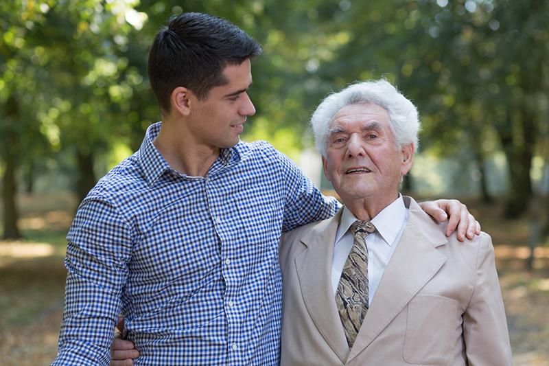 family caregiver with senior